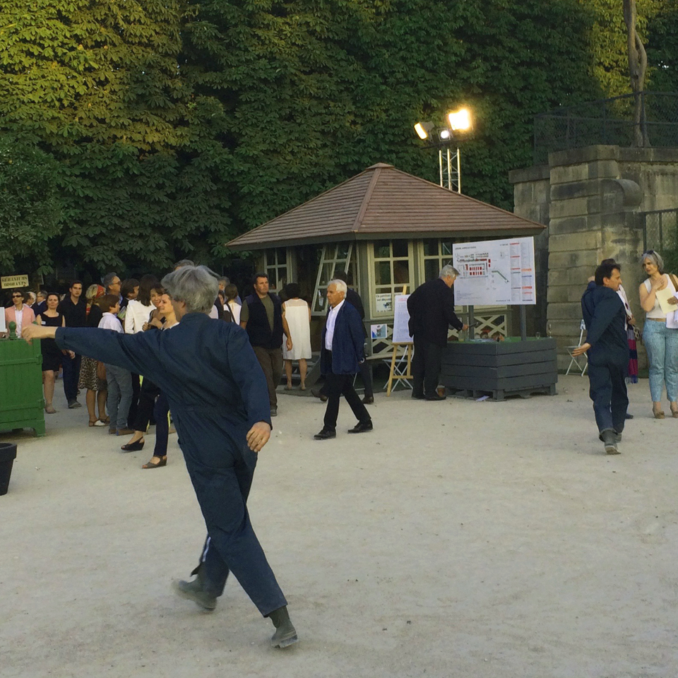 Ouverture de cr ation installation performance au for Jardins paris 2015